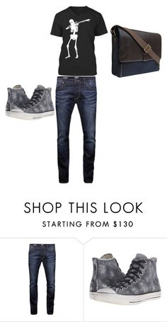 """Untitled #88"" by juh209 ❤ liked on Polyvore featuring Jack & Jones, Converse, Hidesign, men's fashion and menswear"