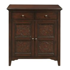 Hand Painted Distressed Bronze/Brown Finish Accent Chest
