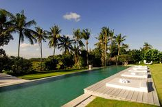 Villa Infinity is an enormous villa with a private pool, cinema, great outdoors and infinite views of rice fields. #bali