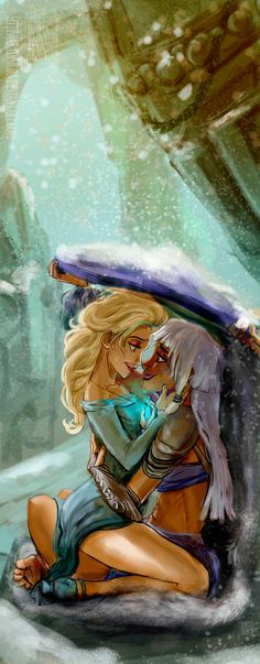 Oh my gosh. This is so beautiful. I can feel the love radiating through my phone screen. Elsa x Kida