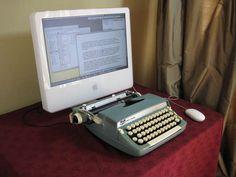 USB Typewriter - Vintage typewriter turned into keyboard... WTF? http://www.instructables.com/id/USB-Typewriter/