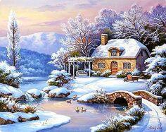 Sung Kim ~ Ducks In The Snow