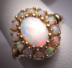 One of the most gorgeous rings I have ever seen Antique Australian Art Deco Opal Ring