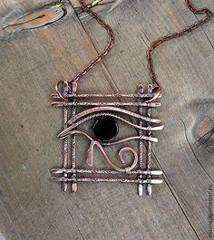 """Купить Кулон """"Глаз Гора"""" - черный, медный, кулон, украшение, амулет, египет, египетский, древний"""