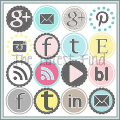 Oooh, these are cool!  social media icons