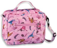 Wildkin Child's Ballerina Lunch Bag #18003 . $13.25. Wildkin 18003 - Ballerina Lunch BagPart of the Ballerina collectionWildkin Lunch Bags are designed with vivid patterns that reflect the fun and delightful universe of your child?s imagination.With everything from Astronauts to Butterflies, these lunch bags will appeal to any boy or girl.Constructed of a durable exterior polyester fabric and easily washable interior for those messy lunches.With a detachable shou...