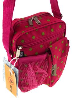 Journey Nursing Organizations - How To Define Fantastic Nursing Agencies Travel Gadget Bag Pink Green Polka Dots Shoulder Strap Crossbody Rfid Blocking Travel Gadgets, Everything Pink, Travel Bags, Pink And Green, Hello Kitty, Shoulder Strap, Polka Dots, Backpacks, Suitcases
