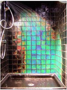 heat sensitive bathroom tiles