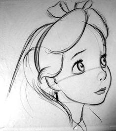 Disney drawing technique - Alice in Wonderland