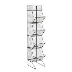 Colonne indus en métal noire H 130 cm