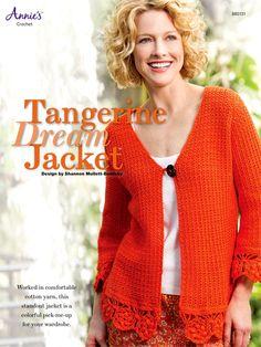 Crochet - Crochet Clothing - Cardigan Patterns - Tangerine Dream Jacket