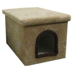 Enclosure Cat Litter Box in Beige