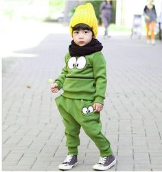 7f428ff3509752 Baby Boys Girls Sports Wear Tracksuit Outfit Smiling Face Unisex Kid Suit  For Spring   Autumn