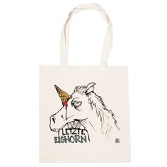 """MAD IN BERLIN: Tragetasche Eishorn – The laste #Unicorn –- In German it's Einhorn → """"Icehorn"""""""