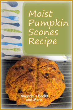 Moist #Pumpkin Scones #Recipe with #Linky ~ Amanda's Books and More