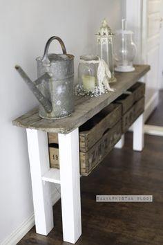 DIY nice small side table   Saa kurkistaa blogi: elokuu 2012