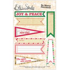 Be Merry - Pennants :: Be Merry :: By Collection :: Elle's Studio Tags :: Elle's Studio