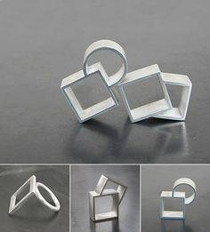 modern geometric rings by French jeweller Violaine Ulmer.