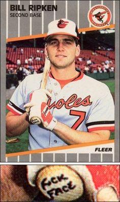 Actual baseball card