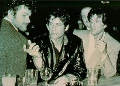 David Keith, John Travolta & Sylvester Stallone at Studio 54 - goodness time flies.