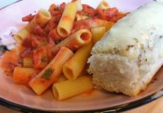 Rigatoni with Spicy Vodka Tomato Cream Sauce | Cooking with a Wallflower