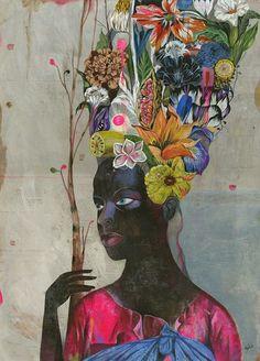 ⊰ Posing with Posies ⊱ paintings of women and flowers - Olaf Hajek