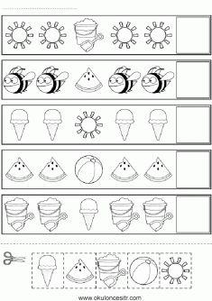 Örüntü Çalışma Sayfası indirme sayfası, preschoolers and kindergarten pattern worksheets