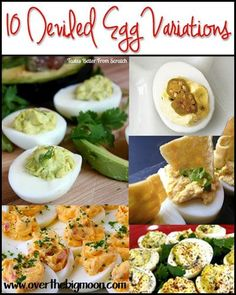 So many different and delicious recipes for deviled eggs!: