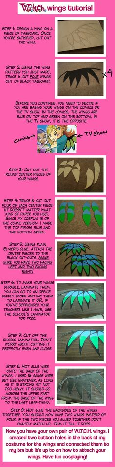 W.I.T.C.H. wings tutorial (obviously the method can be used for any wing style)