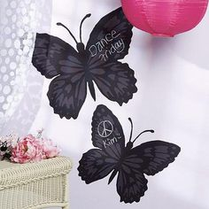 Have to have it. Wallies Butterfly Chalkboard Mural Decal $22.99