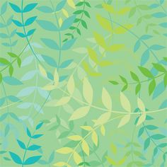 Climbing Vines (Aquamarine) Shelf Paper A blue-green backdrop is highlighted by whimsical vines in shades of blue, green and yellow.