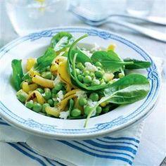 Summer spinach pasta salad recipe