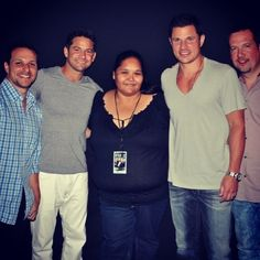 Vip with 98 degrees in La on 7/5/2013