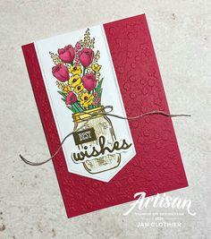 Thinking Stamping: Jar of Flowers for AYSI Mason Jar Cards, Mason Jars, Wink Of Stella, Stamping Up Cards, Rubber Stamping, Flower Cards, Paper Flowers, My Stamp, Homemade Cards
