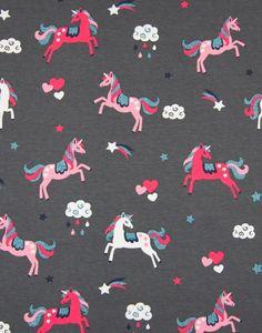 Jersey Cotton Print - Unicorn & Stars Glitter | Empress Mills