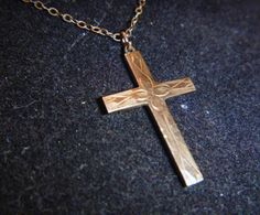 Vintage Cross Necklace Pendant 10K Yellow Gold & by GMJvintage1, $22.00