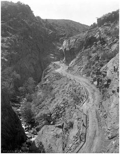 Ute Pass 1890...not much better than earlier picture of wagon trains on the Pass