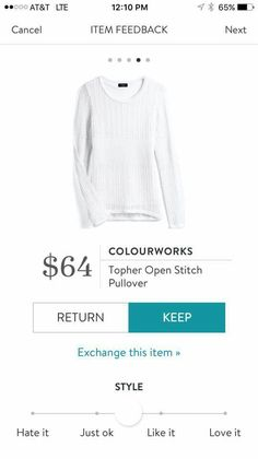 Maybe I need a white pullover?