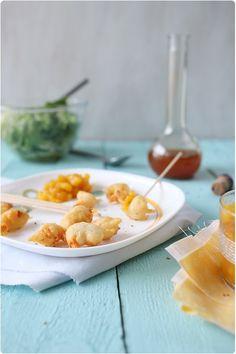 Tempura de crevettes et chutney ananas/mangue