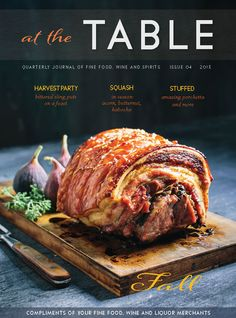 Our latest Fall cover! Wine And Liquor, Wine And Spirits, Acorn, Beef, Dishes, Fall, Cover, Kitchens, Meat