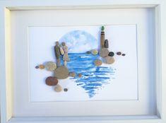 Pebble art picture frame #uniquefamilygift