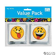 Temporary Tattoos, Goofy Smile Face |36 ct