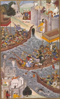 """This is not an Epic Rap Battle (although I would be very interested to see one), but I will try to make it as interesting as the """"History"""" allows me to. Mughal Miniature Paintings, Mughal Paintings, Islamic Paintings, Indian Paintings, Historical Art, Historical Pictures, Medieval Paintings, Medieval World, Krishna Painting"""
