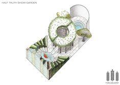 Half-truth show garden axonometric drawing