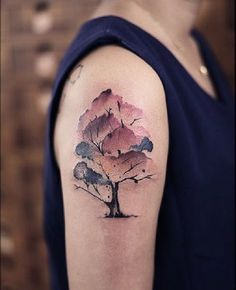 Tree Tattoo on the Upper Arm. As mentioned earlier, the tree tattoo can be placed on any part of the body. This tattoo is best placed on the upper arm with the beautiful combination of colors.