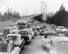 Lions Gate Bridge South-bound Morning Traffic, c.1954 | Flickr