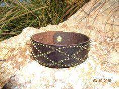 studded leather by longshotleather on Etsy $45.00