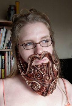 Paper-quill beard!
