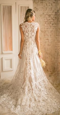 Personalized Wedding Tips Boho Bride, Boho Wedding, Dream Wedding Dresses, Wedding Gowns, Dress Vestidos, Trendy Dresses, Bride Groom, Bridal Gowns, Marie