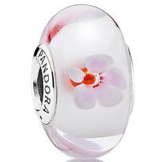 PANDORA Cherry Blossom Murano Bead - SALE